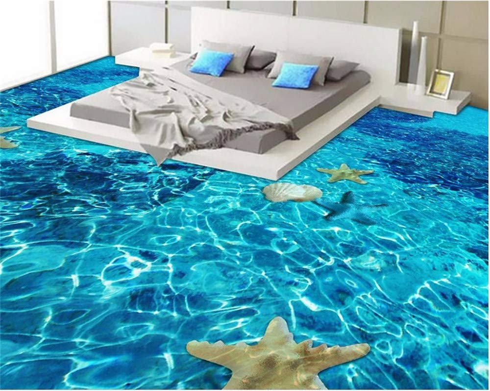 Weaeo 壁のステッカーの床寝室の壁の紙の3D床防水自己接着Pvc 3Dの浴室3Dの床の写真 -250X175Cm B07GJNWBFM 250X175CM 250X175CM