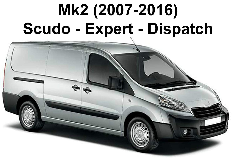Mk2 PEUGEOT EXPERT Van Roof Rack 2 Bars - AutoRack WorkReady 2007-to-2016