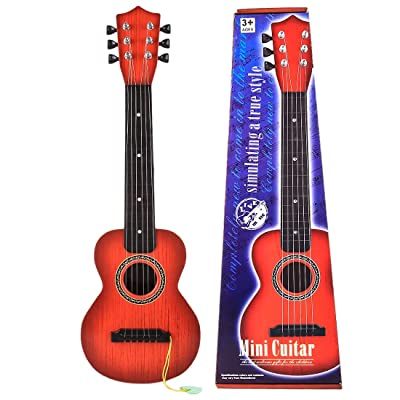 Guitar Toys for Kids, 6 Strings Musical Instruments Educational Toy Guitar for Beginners Kids Ages 3 4 5 6 7 8 9 10 11 12: Toys & Games