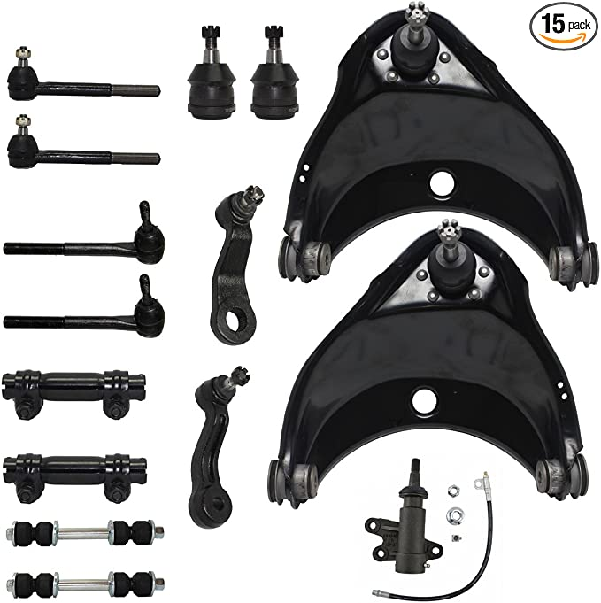 13 Pc Front Upper Control Arm Lower Ball Joint Tie Rod Pitman Idler Arm 6Lug
