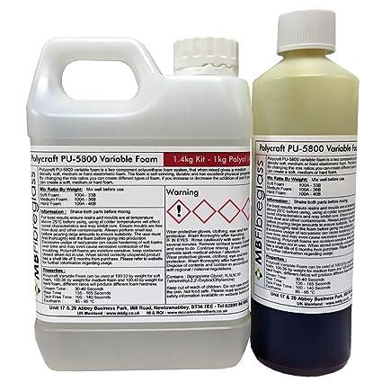 Polycraft pu5800 variable espuma de poliuretano (suave/tamaño mediano/duro) – 1