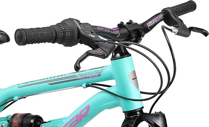 ni/ños Bicicleta Cambio Shimano de 7 velocidades BIKESTAR Bicicleta de monta/ña de Aluminio Suspensi/ón Doble Bicicleta Juvenil 20 Pulgadas de 6 a/ños Freno de Disco