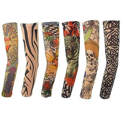 Amazon.com: 6pcs Temporary Tattoo Sleeves, Hmxpls Body Art Arm ...