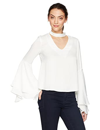 a11a7060a2fa Amazon.com: Kendall + Kylie Women's Bell Sleeve Top: Clothing