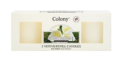 Colonia Bx/3 recambios jazmín y sándalo, Color Blanco