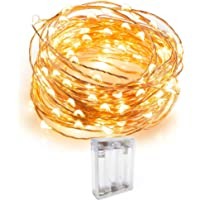 Fairy String Lights Battery Operated 30 Micro LEDs on 9.8 Feet Long Copper Wire Firefly Lights, With Timer Battery Box Perfect for Wedding Party, Bedroom