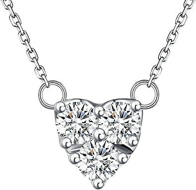 collier argent femme avec diamant