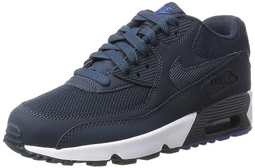 sale retailer 414cd 51904 Nike Air Max 90 Mesh Gs, Unisex Gymnastics, Blue (Armory Navy armory