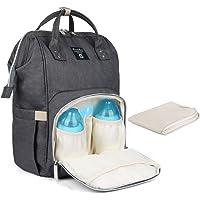 Baby Wickelrucksack Wickeltasche mit Wickelunterlage Multifunktional Oxford Große Kapazität Babyrucksack Kein Formaldehyd Reiserucksack für Unterwegs