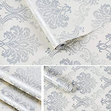 Bedroom Wallpaper Design Ideas Damask Self Adhesive Vinyl Pattern Contact Paper
