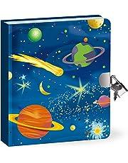 Peaceable Kingdom-Deep Space Glow-In-The-Dark-Lock and KeyDiary