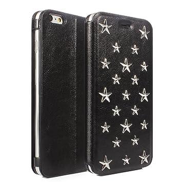 c634f320de Amazon | 【正規品】iPhone 6S 6 手帳型 ケース カバー スタッズ 星型 ...