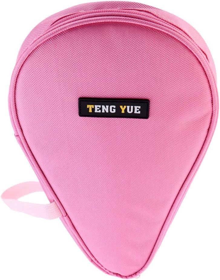 Toygogo Bolso Ligero para Bate De Tenis De Mesa - Bolso De Paleta De Ping Pong con Estuche De Bolas para 2 Palos De Ping Pong Y 3 Pelotas
