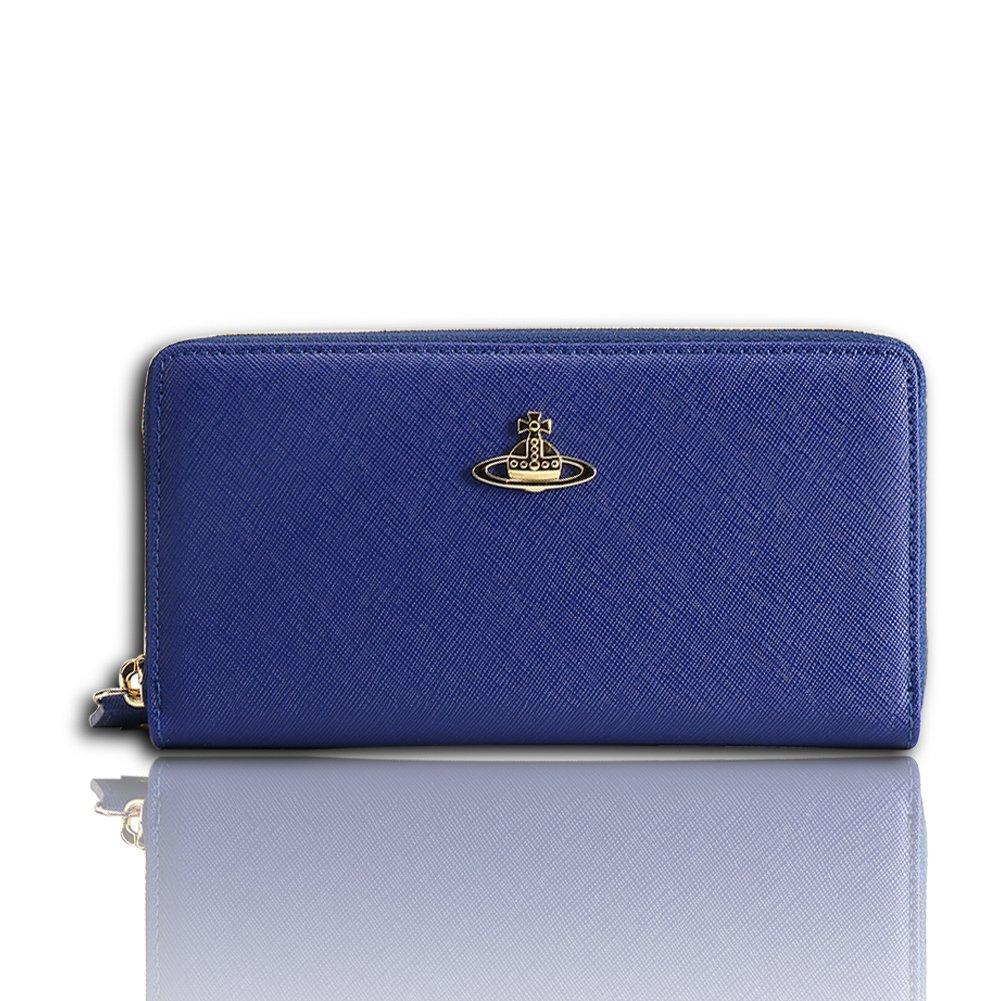 Vivienne Westwood ヴィヴィアンウエストウッド 財布 ラウンドファスナー長財布 55306  レディース ゴールド金具 ピンク PINK [並行輸入品] B07DNP3HVQ  ブルー
