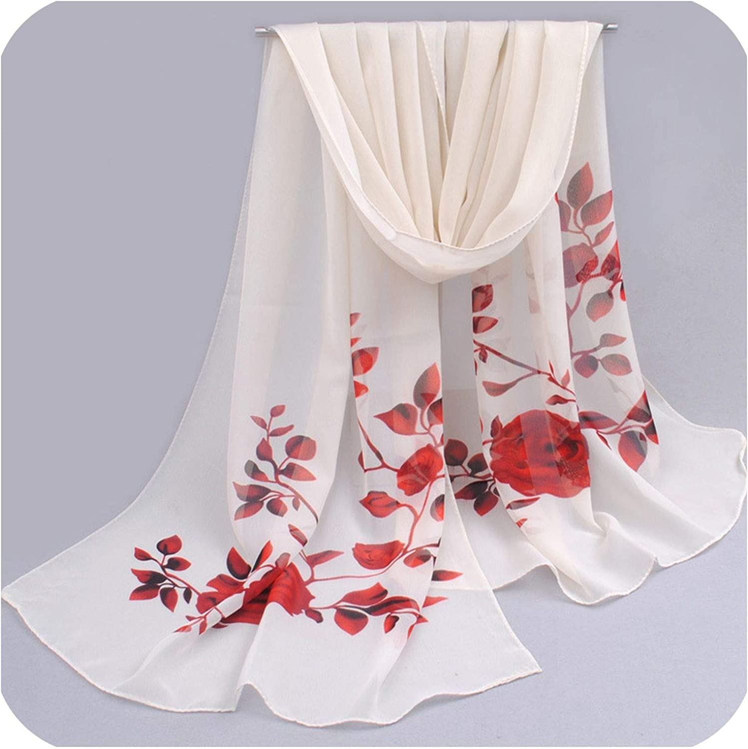 Spring And Summer Women Scarf New Shawl Printed Cape Silk Chiffon Polyester Tippet Muffler