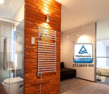 Radiador-calentador de toallas para baño, radiador eléctrico (Calefacción Eco, 450 W, 500 x 1000): Amazon.es: Hogar