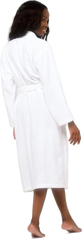 Terry Cloth Robes for Women and Men 100/% Turkish Cotton Kimono Womens Robe Mens Bathrobe XX-Large White Velour