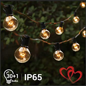 Ersatzglühlampen Für Weihnachtsbeleuchtung.Lichterkette Weihnachten G40 Glühbirnen 10m Elegear Warmweiß