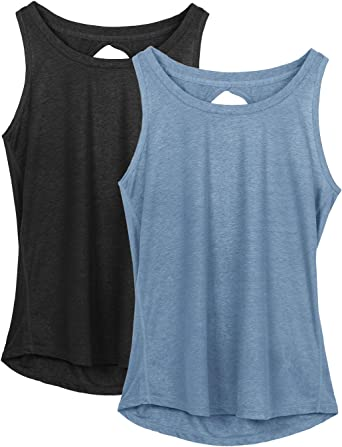 American Fitness Couture Womens Premium Performance Fabric Racerback Workout Tank Top