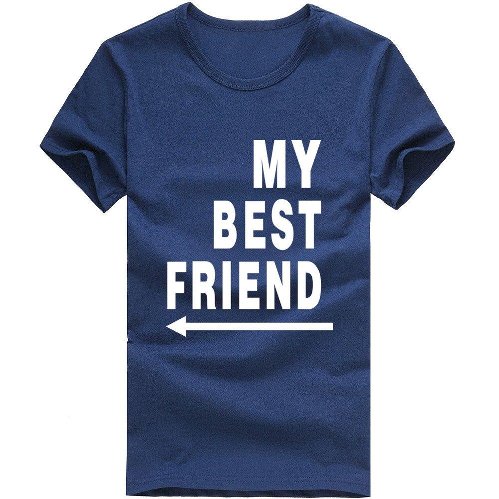 MISYAA Best Friend T Shirts for Men, Letters Muscle Tee Shirt Short Sleeve Sweatshirt Sport Tank Top Pals Gift Mens Tops