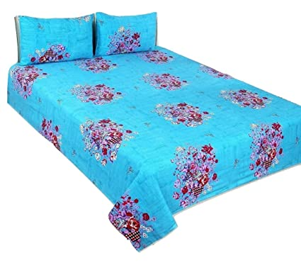 1b4edc755d Avnoor 100% Pure Casement Cotton Double Bed Sheet with 2 Zip Pillow Cover:  Amazon.in: Home & Kitchen