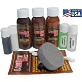 Leather Max Complete Leather Refinish, Restore, Recolor & Repair Kit/Now with 3 Color Shades to Blend with/Leather…