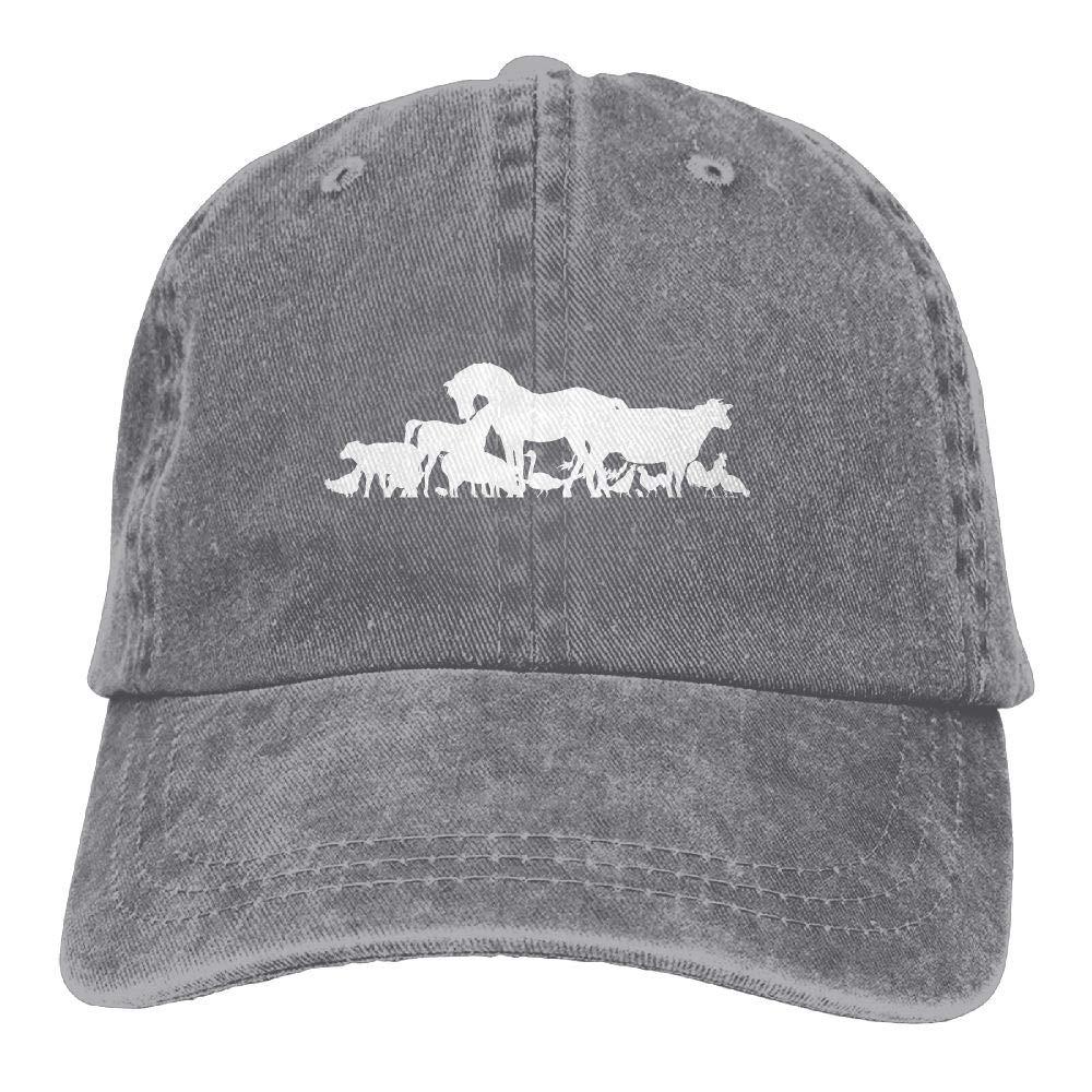Animal FamilyWashedDad Hat Adult Unisex Adjustable Hat