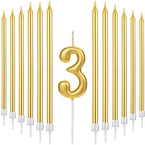 Amazon.com: Tatuo - Juego de 21 velas de cumpleaños con ...