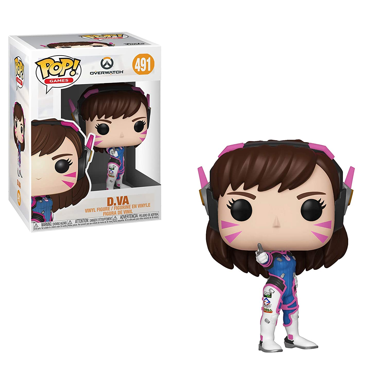 Brigitte Victory Pose and Pharah Funko Pop!: Bundle of 7: Overwatch Reaper 6 inch Bastion Wraith 6 inch Wrecking Ball Moira D.Va