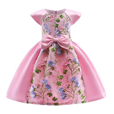 Summer Baby Girls Pageant Princess Dress Kids Wedding Party Dresses for Girls Children Clothing