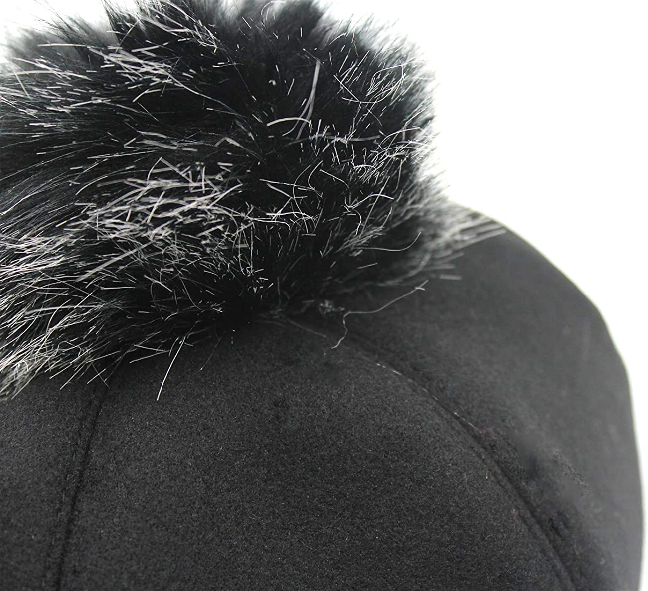 Bolley Joss Solid Color Wool Beret Hat French Style Hat Cute Artist Cap with Pom Pom for Girls