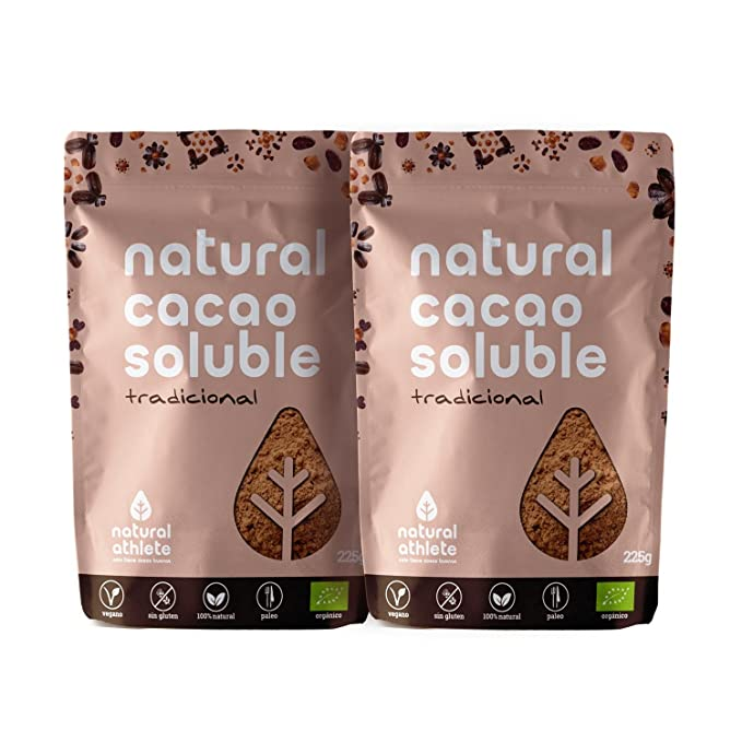 Cacao Soluble - Natural Athlete - 75% menos de azúcar - 100% natural y
