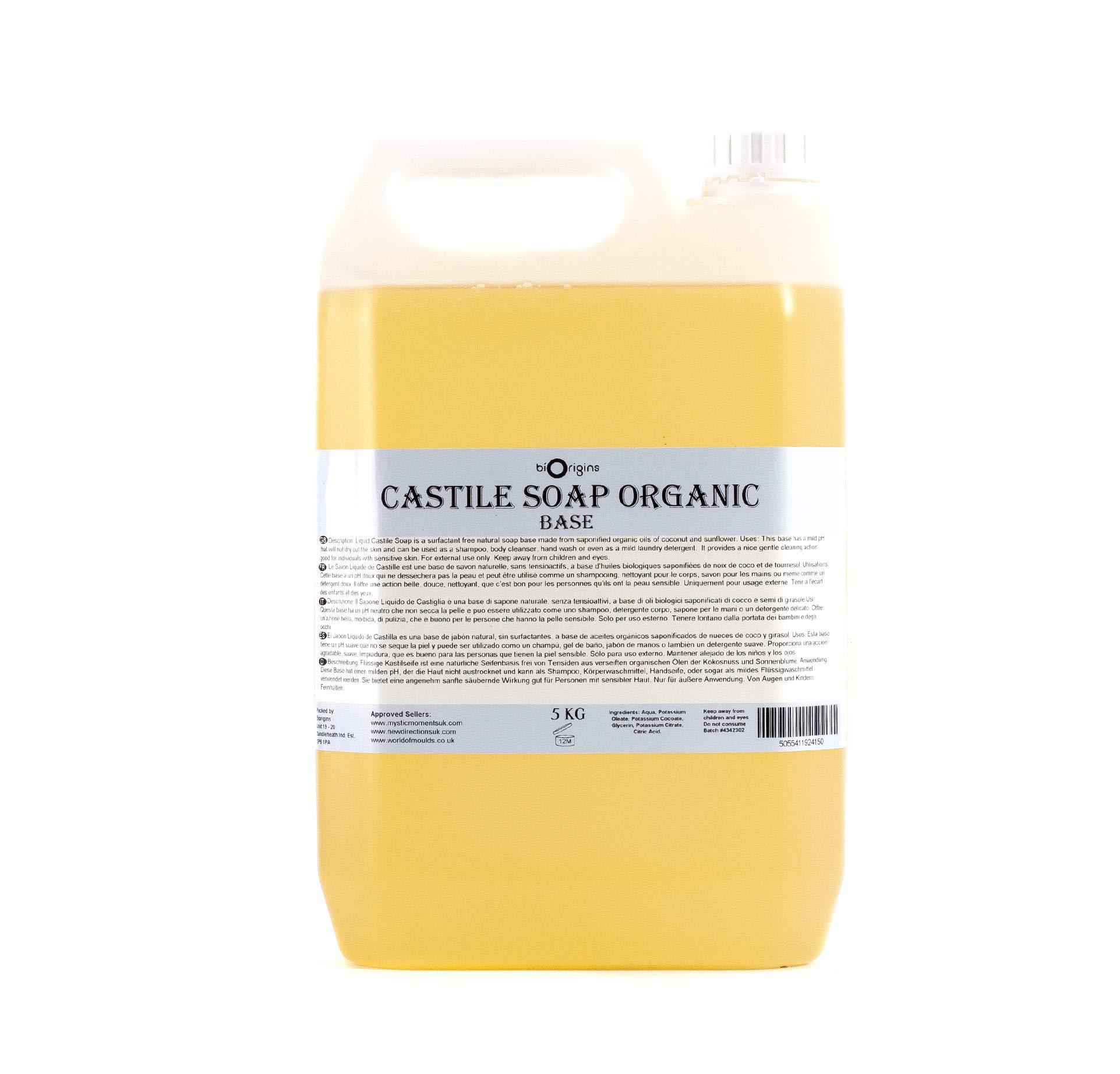 Liquid Castile Soap Organic 5Kg