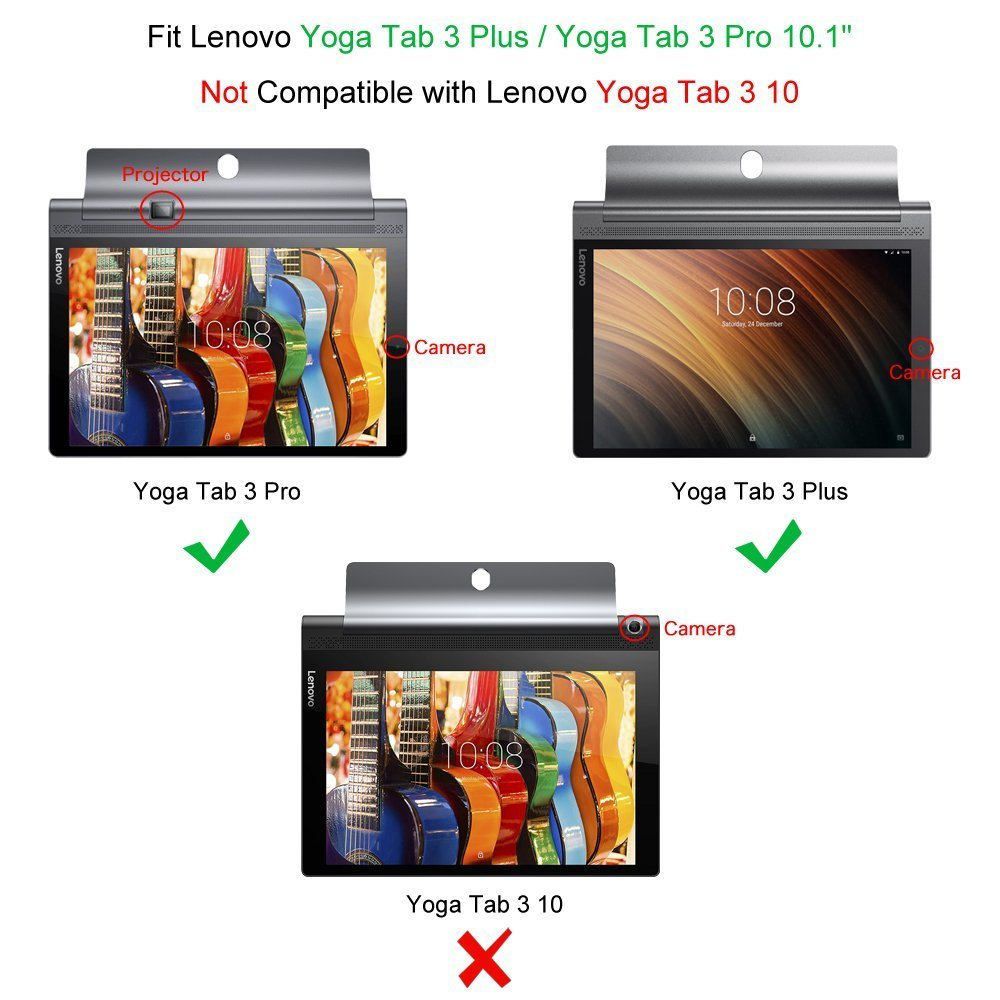 Fintie Funda para Lenovo Yoga Tab 3 Pro/Yoga Tab 3 Plus 10 - Slim Fit Carcasa para Lenovo Yoga Tab 3 Pro/Yoga Tab3 Plus 10.1