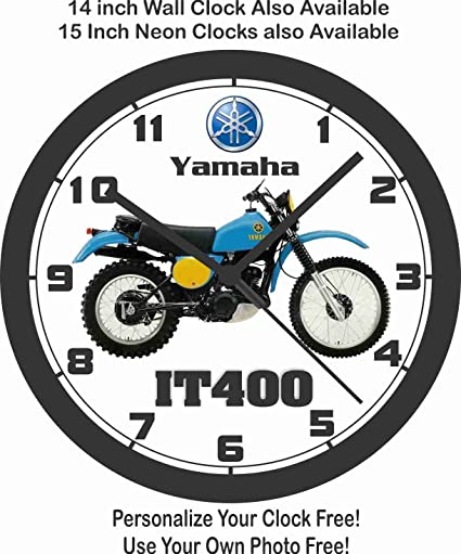 Yamaha it400 motocicleta reloj de pared