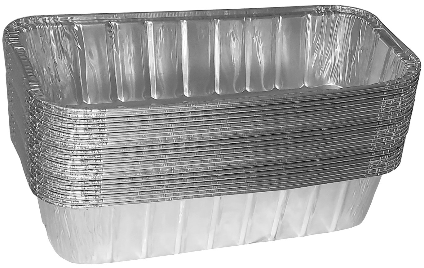 TYH Supplies Disposable 9-3/4 x 3-3/4 inch Aluminum Replacement BBQ Grill Tray Grease Catch Pans Liner Foil Weber All-Purpose Summit Drip Pan (20)