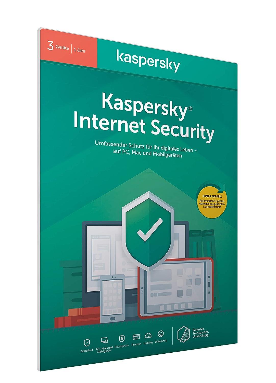 Kaspersky Internet Security 3 Geräte (Code in a Box) (FFP). Für Windows 7/8/10/MAC/Android