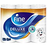 Fine, Sterilized Toilet Paper, Deluxe, 150 sheets x3 Ply, pack of 12 rolls