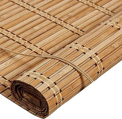 tlmy rideau en bambou a volets roulants ascenseur multifonction balcon ombrage interieur et exterieur store enrouleur en bambou size 50x100cm