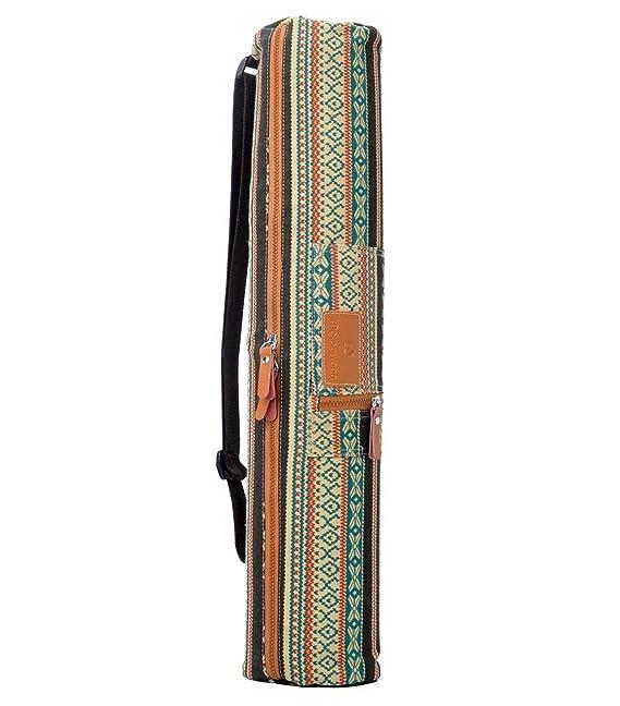 #DoYourYoga Yogabag »Sunita« yoga mat bag made of high-class Canvas, for yogamats up to 180 x 60 x 0,3 cm. Pattern 3