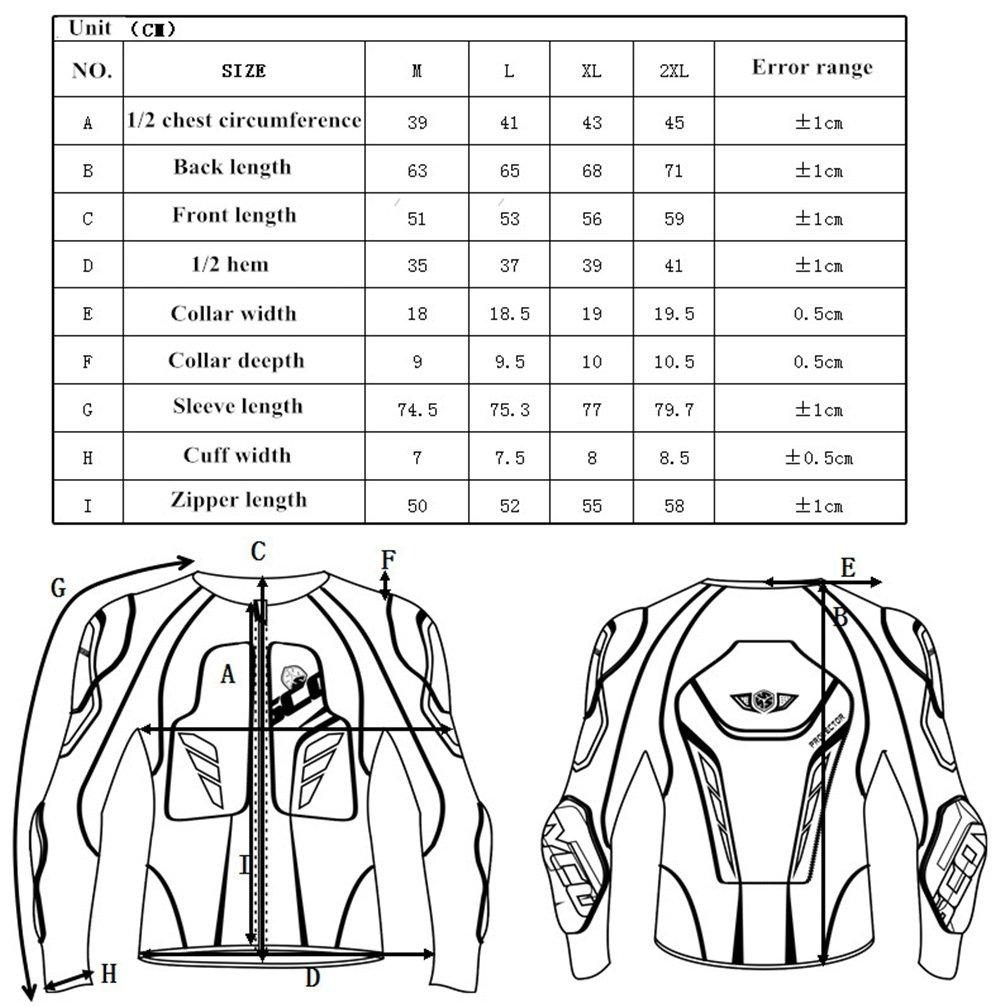 Scoyco AM03 Men's Motorcycle Motocross Racing Protective Gear Jacket Armor (L) by SCOYCO (Image #7)