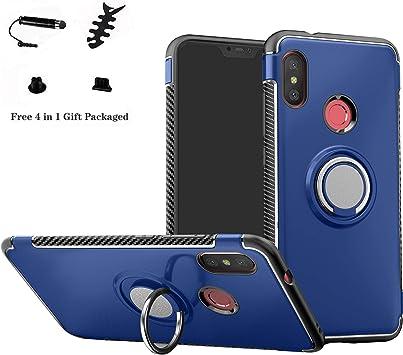 LFDZ Xiaomi Mi A2 Lite Anillo Soporte Funda 360 Grados Giratorio Ring Grip con Gel TPU Case Carcasa Fundas para Xiaomi Mi A2 Lite/Xiaomi Redmi 6 Pro Smartphone(Not fit Mi A2),Azul: Amazon.es: