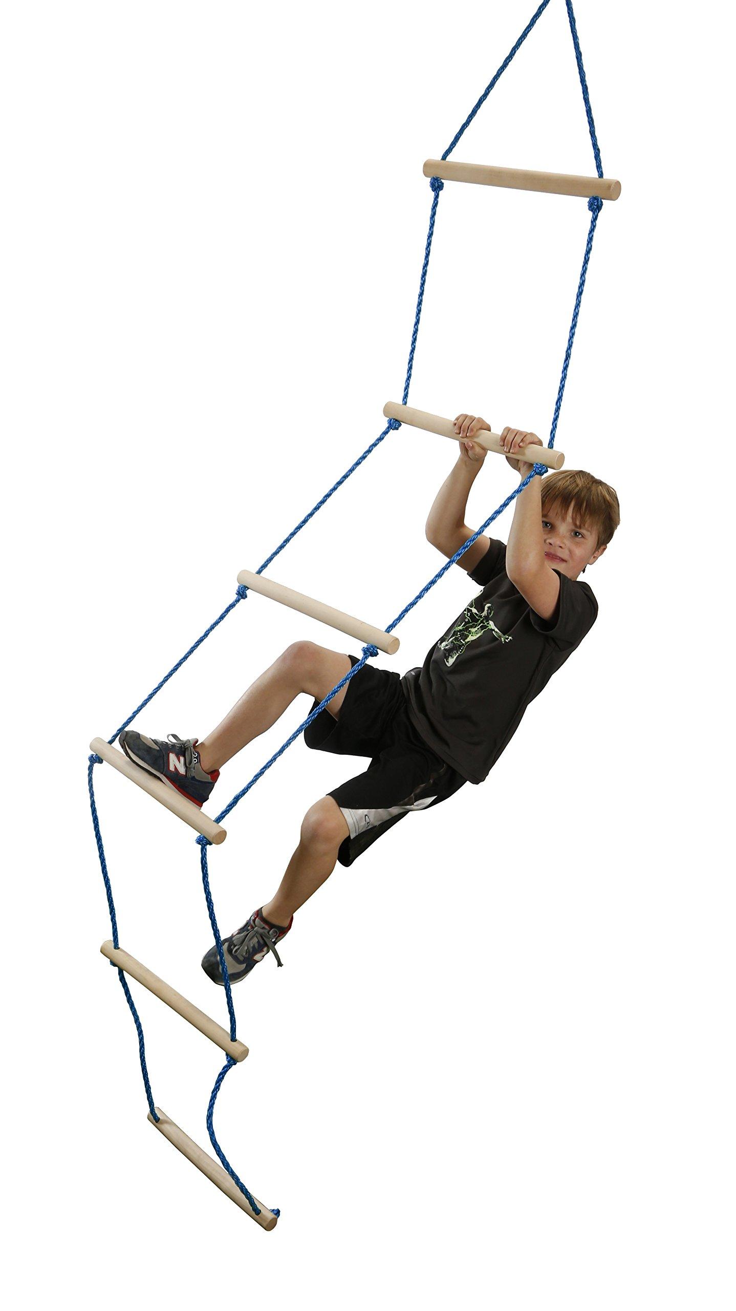 Slackers NinjaLine Rope Ladder, Blue, 8' by Slackers (Image #3)