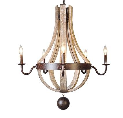 5 light wine barrel chandelier wooden waxed rust dia 30 amazon 5 light wine barrel chandelier wooden waxed rust dia 30 aloadofball Image collections