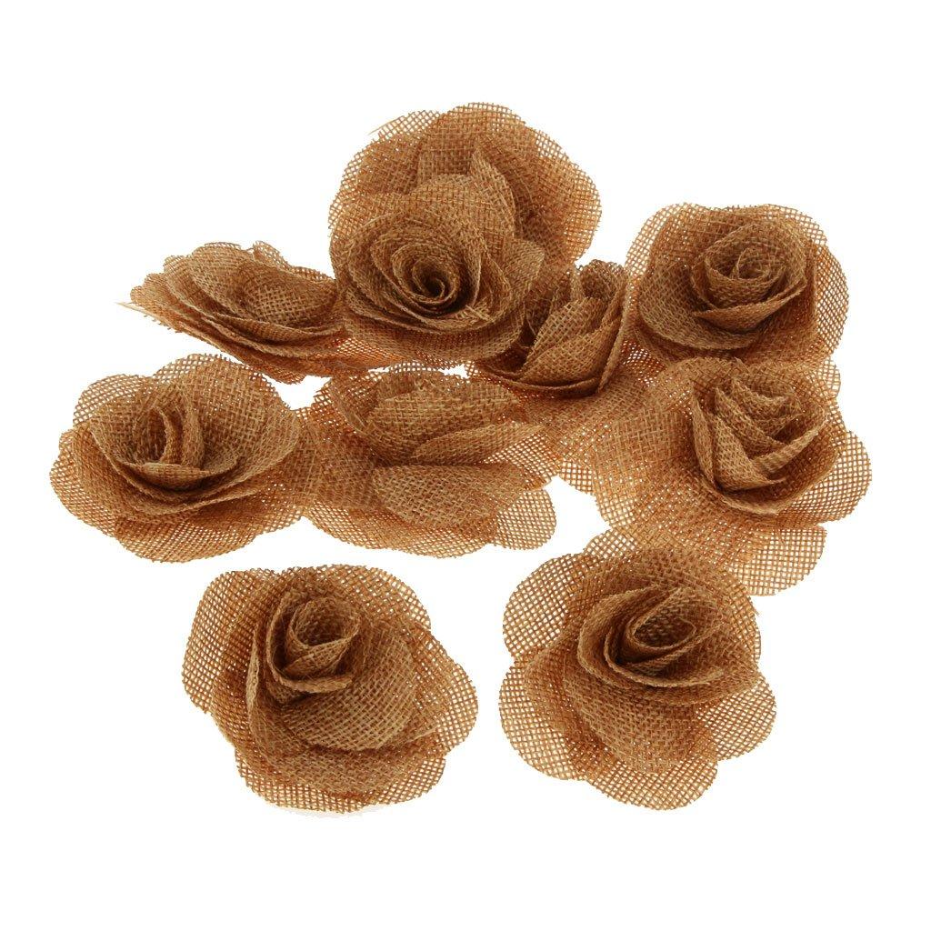Amazon.de: 10x Rustikale Blume Rose Hochzeit Sackleinen Hessischen ...