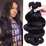 Flady Hair Brazilian Body Wave Virgin Hair 3 Bundles 100% Unprocessed Brazilian Human Hair Weave Bundles Black Color