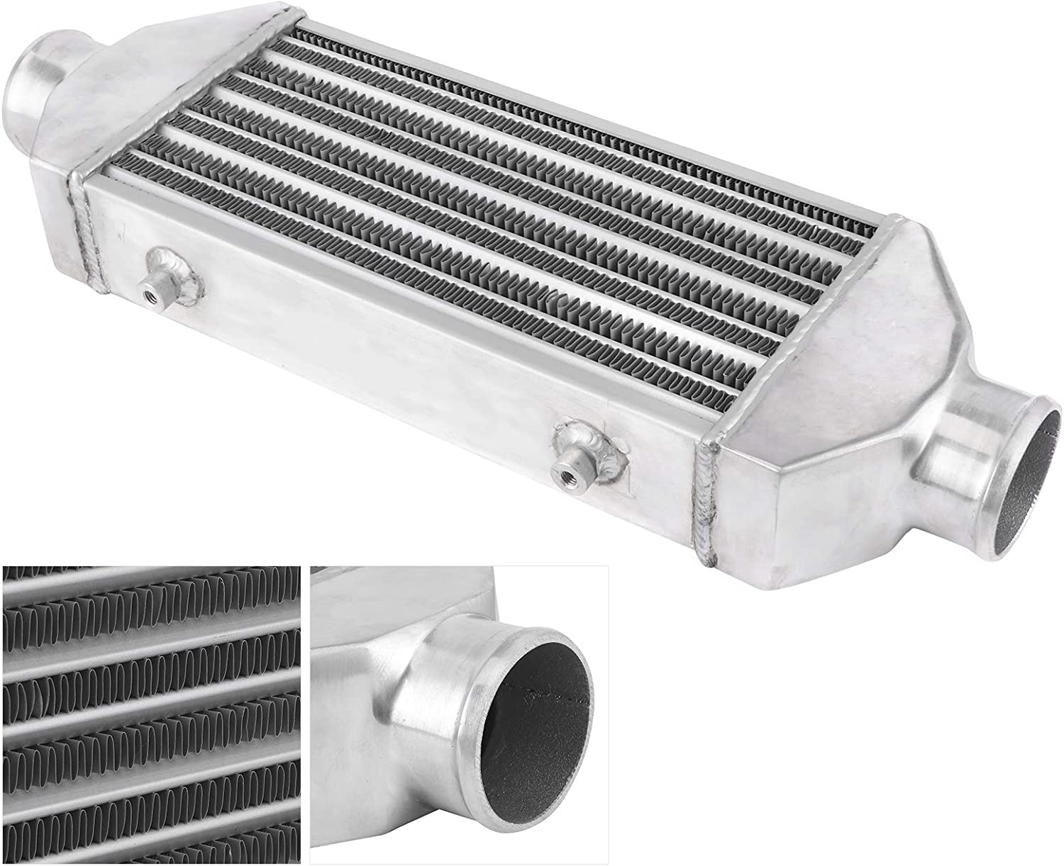 Acouto Performance Turbocharger Intercoolers,Universal Turbo Intercooler Front Mount 63mm Inlet Dia 300x160x65mm Car Modified Accessory