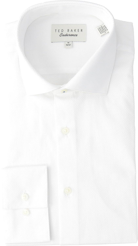 e8136b90bdb0dc Ted Baker Men s Endurance Slick Rick Shirt Blue 15-34 35  Amazon.co.uk   Clothing