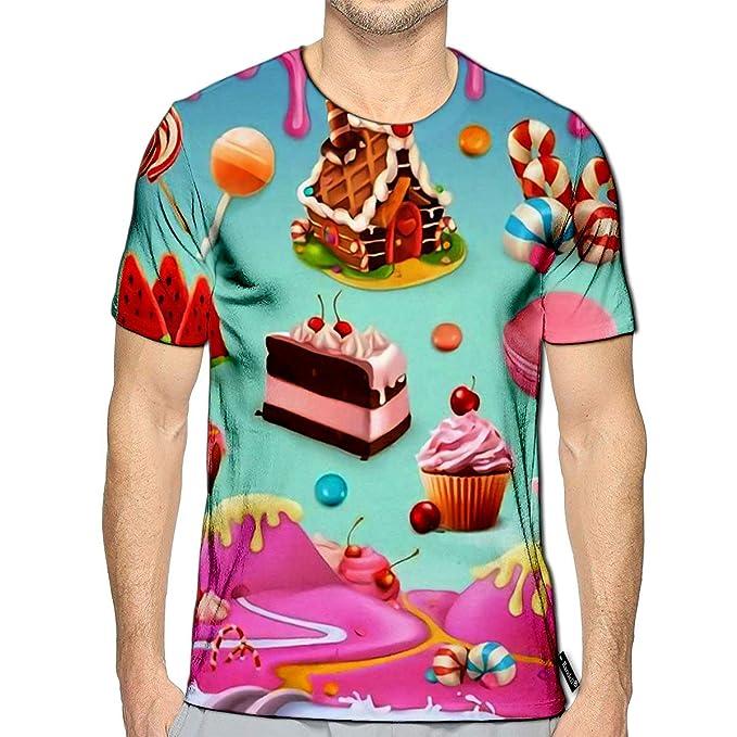 Amazon.com: Camisetas 3D impresas para pasteles, dulces ...