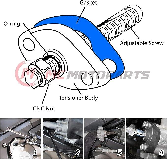 Black MC MOTOPARTS CNC Adjustable HP Manual Cam Chain Tensioner For Honda CRF250X 2014-2020 2015 2016 2017 2018 2019